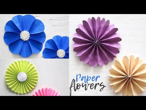 Simple paper flowers paper craft easy tutorial handmade crafts simple paper flowers paper craft easy tutorial handmade crafts ventuno art mightylinksfo