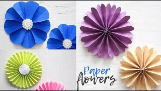 Simple Paper Flowers | Paper Craft | Easy Tutorial | Handmade Crafts | Ventuno Art