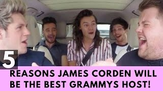 Top 5 Reasons James Corden Will Be The Best Grammys Host EVER!