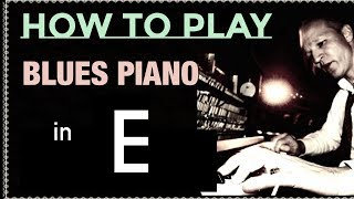 How to play a MUST-HAVE LICK for Blues Piano in E!