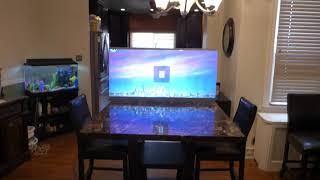 NEW  LUMINOUS NANO TECH - 4K TV LIKE ULTRA THIN PANEL SYSTEM PROJECTION SCREENS