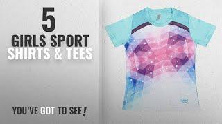 10 Best Girls Sport Shirts & Tees [2018 Best Sellers]: Qiddo Sports Girls' T-Shirt (QG01B-14-15