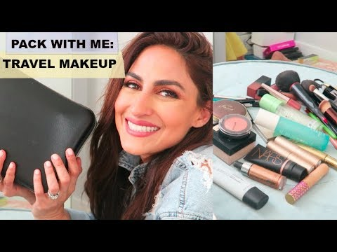 MY MAKEUP TRAVEL BAG | WHAT + HOW I PACK! thumbnail