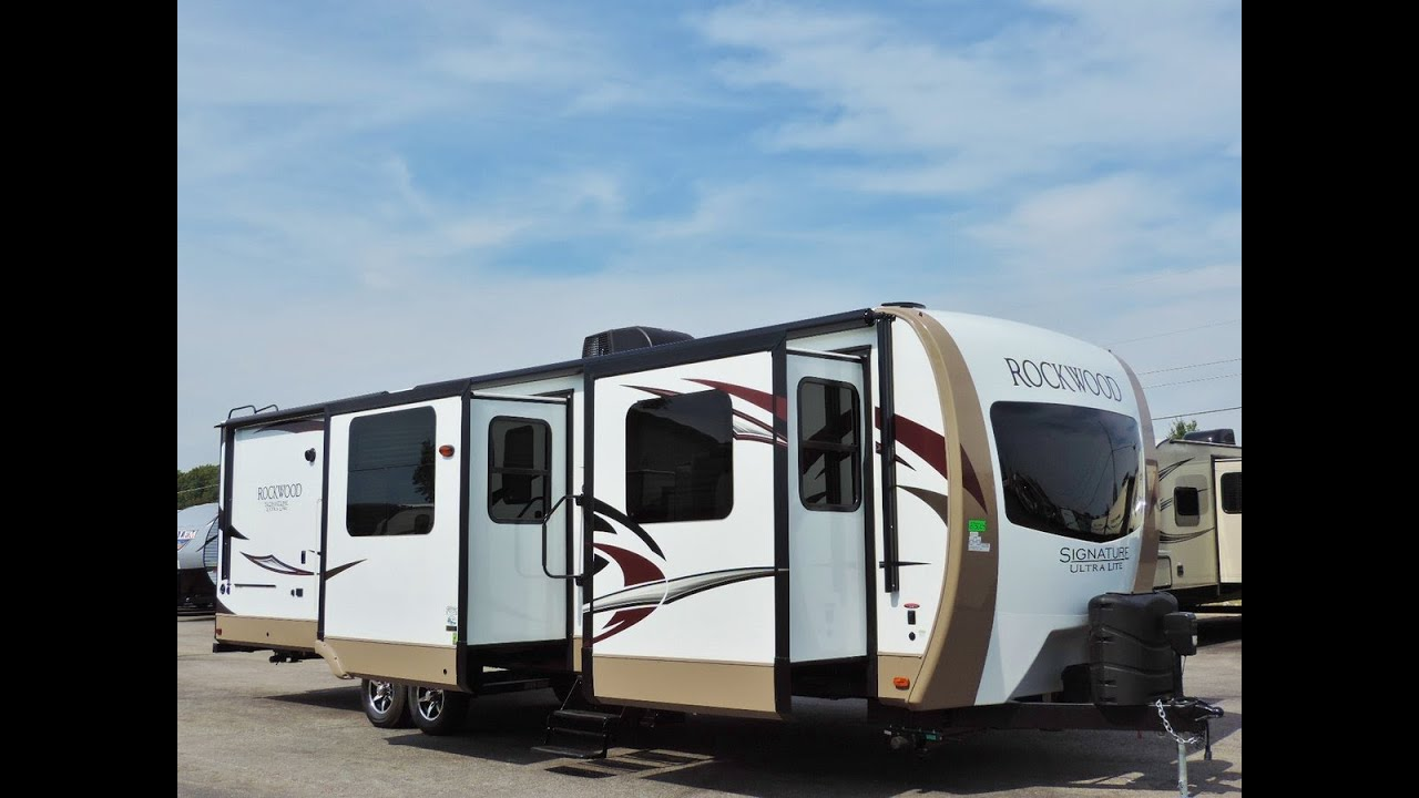 Awesome 2017 rockwood signature ultra lite 8324bs quad - Front living room travel trailers ...