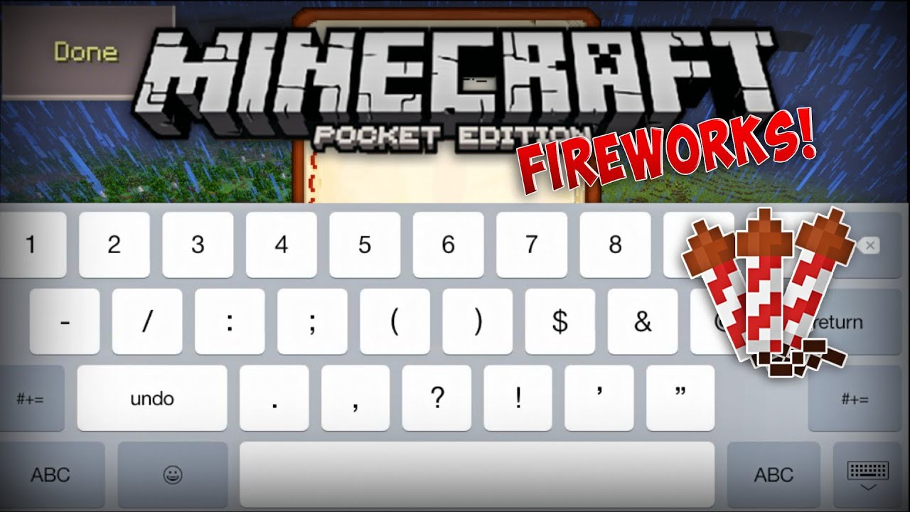 FIREWORKS AND BOOKS QUILLS IN MINECRAFT POCKET EDITION MCPE