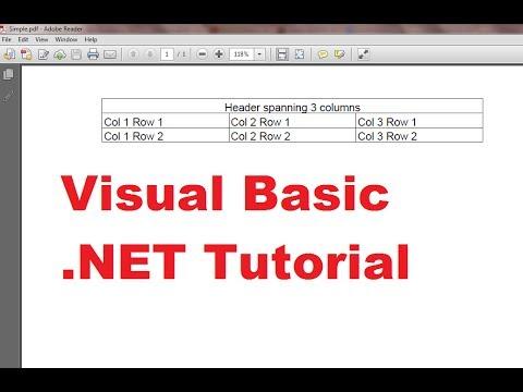 Visual pdf learning basic .net