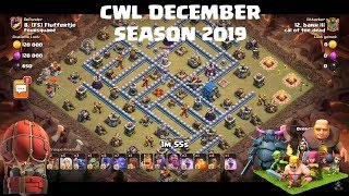 Clash of Clans CWL December Season 2019 | Best TH12 attack strategies |TH12 CWL attack strategy 2019