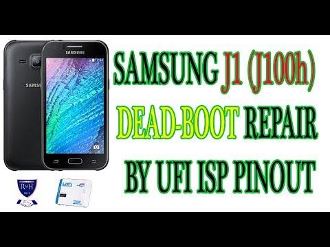SAMSUNG J1 (J100h) DEAD-BOOT REPAIR BY UFI ISP PINOUT