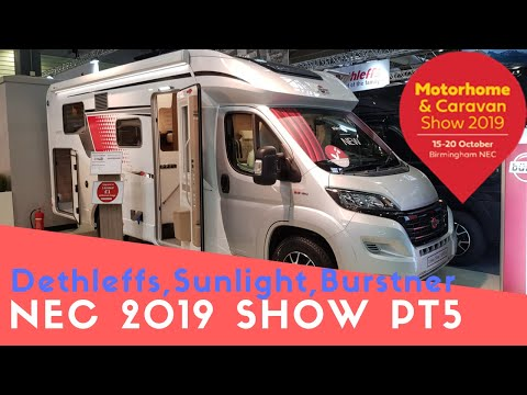 Dethleffs, Sunlight And Burstner Motorhomes | Motorhome And Caravan Show NEC 2019 Pt5