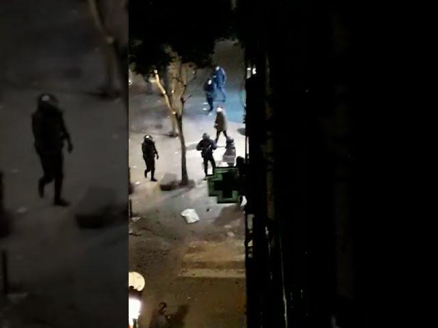 Disturbios en el madrileño barrio de Lavapiés la noche del 15 de marzo