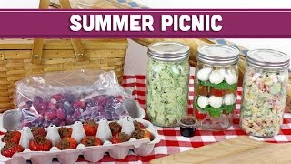 Summer Picnic Menu + Vegan Nutella | Healthy Lunch Recipes - Mind Over Munch