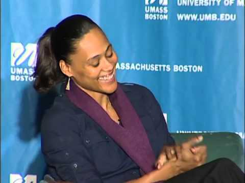 Marion Jones visits UMass Boston