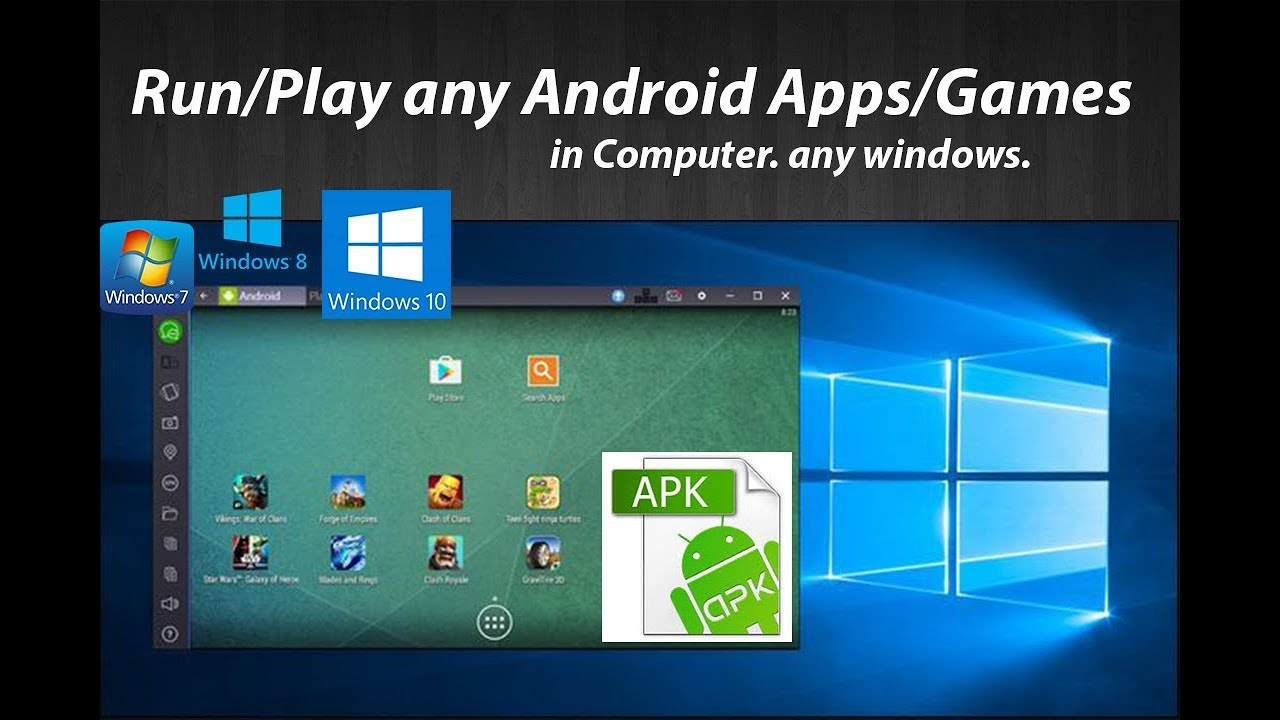 how to play android games on PC|Run any android Apps or Apk in Computer