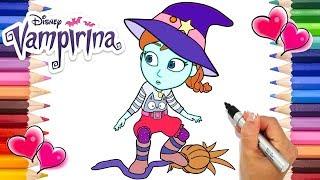 The Witch I Want To Be Vampirina Coloring Page   Vampirina Coloring Book   Disney Jr. Printable