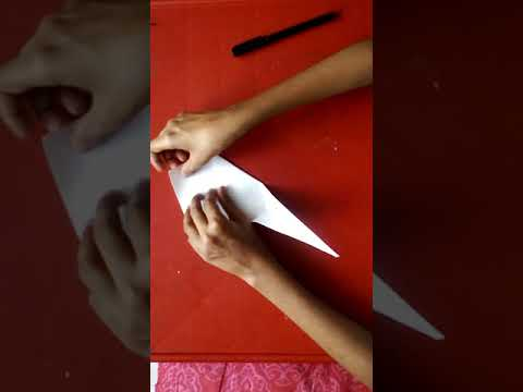 How to make a paper swan without glue or sciccors.