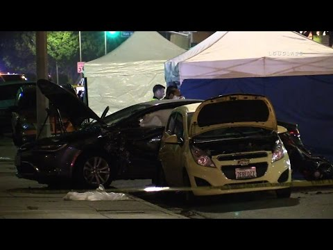 Double Fatal Traffic Collision / Los Angeles  RAW FOOTAGE