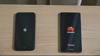 Apple iPhone 7 vs Huawei P9 - Speed Test!