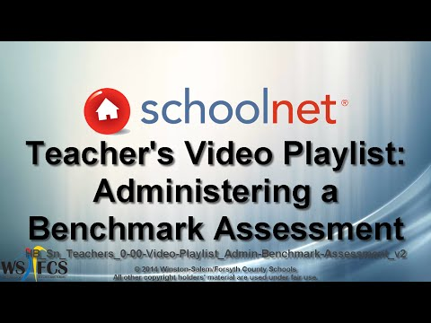 About This Video Playlist: Administering a Schoolnet Benchmark Assessment
