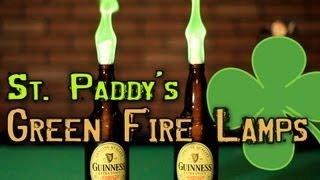 Green Fire Beer Lamps!