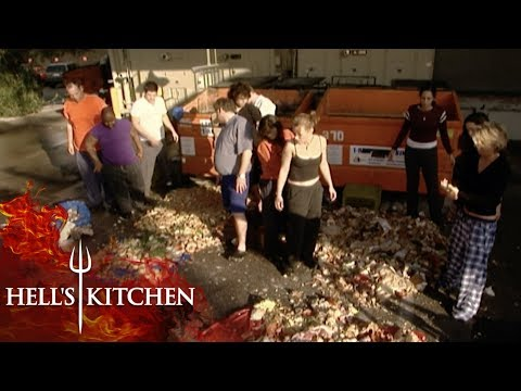 Gordon Ramsay Shows How Much Food Amateur Chefs Waste | Hell's Kitchen