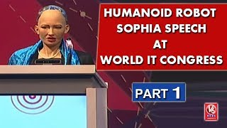 Special Interview With Humanoid Robot Sophia At World IT Congress I...