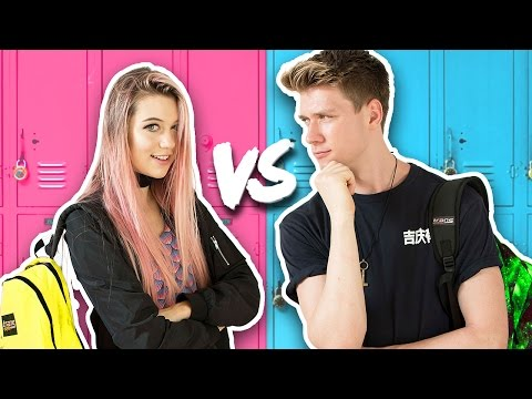 Thumbnail: BACK TO SCHOOL Guys Vs. Girls Challenge + Giveaway 2016 | Collins Key & Jessie Paege