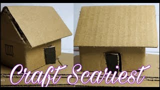 Wow ! beautiful paper house | how to make a attractive house from paper - DIY