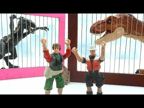 Dinosaurs for kids! Let's Dinosaurs Rescue The Prison  - Trapped Dinosaurs! 공룡 장난감 쥬라기
