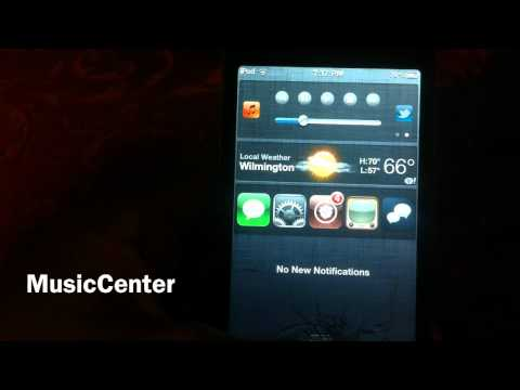 iOS5 Widget - MusicCenter - Get Quick Access To Your Music In Your Notification