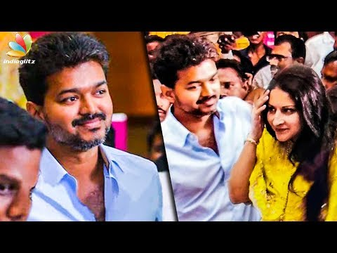 Vijay & his Wife At Pondy : Spotted with Fans | Hot Tamil Cinema News