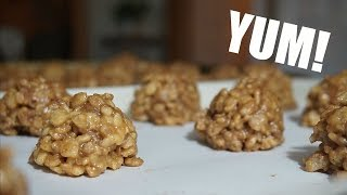 How To Make Reese Peanut Butter Rice Krispie Balls!