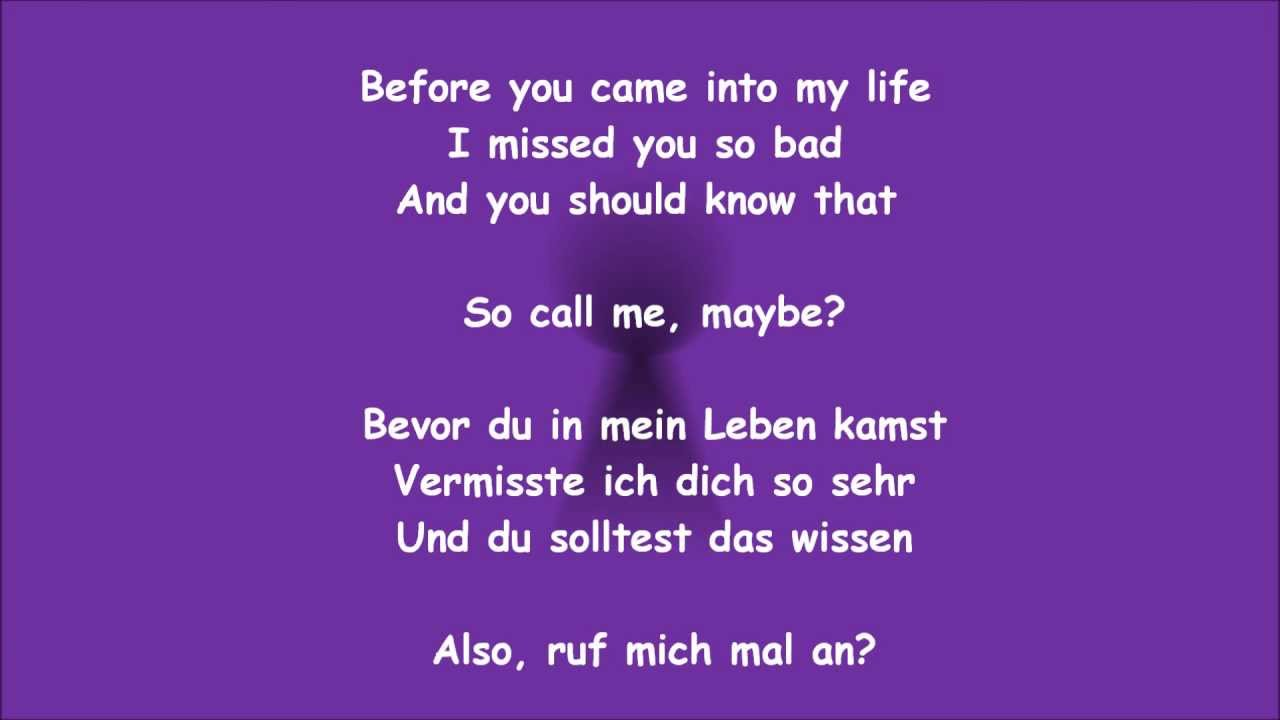 Call Me Maybe - Carly Rae Jepsen - Auf Deutsch! | WhoNeedsTV