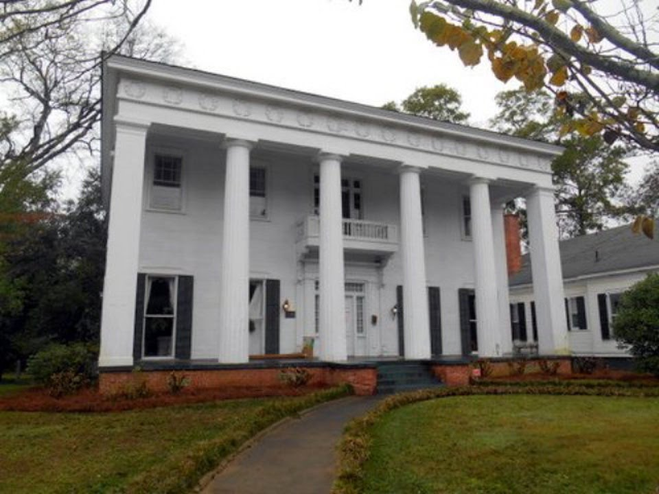 Antebellum greek revival georgia mansion video tour for Antebellum plantations for sale