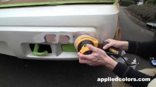 Professional Bumper Repair System Video 3. Part 2/5: Sand & Fill