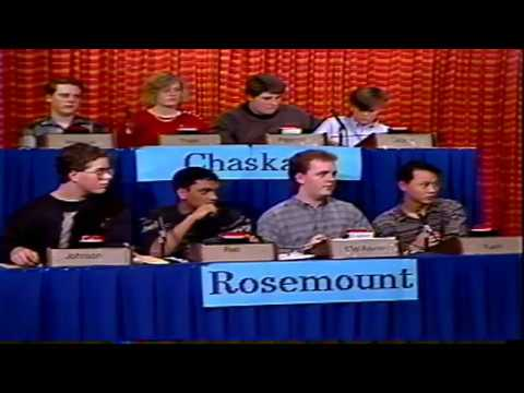 1990 Minnesota High School Quiz Bowl Round Robin - Rosemount vs  Chaska