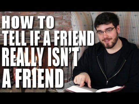 How to Tell if a Friend Really Isn't a Friend