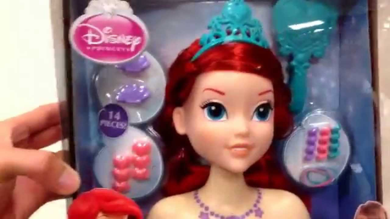 "Doll Head Hair Styling: DISNEY PRINCESS ""The Little Mermaid Ariel Styling Head"