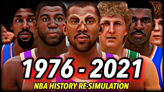 I Reset The NBA To 1976 & Re-Simulated ALL OF NBA HISTORY (UNTIL 2021) | CHAPTER 1: THE BEGINNING