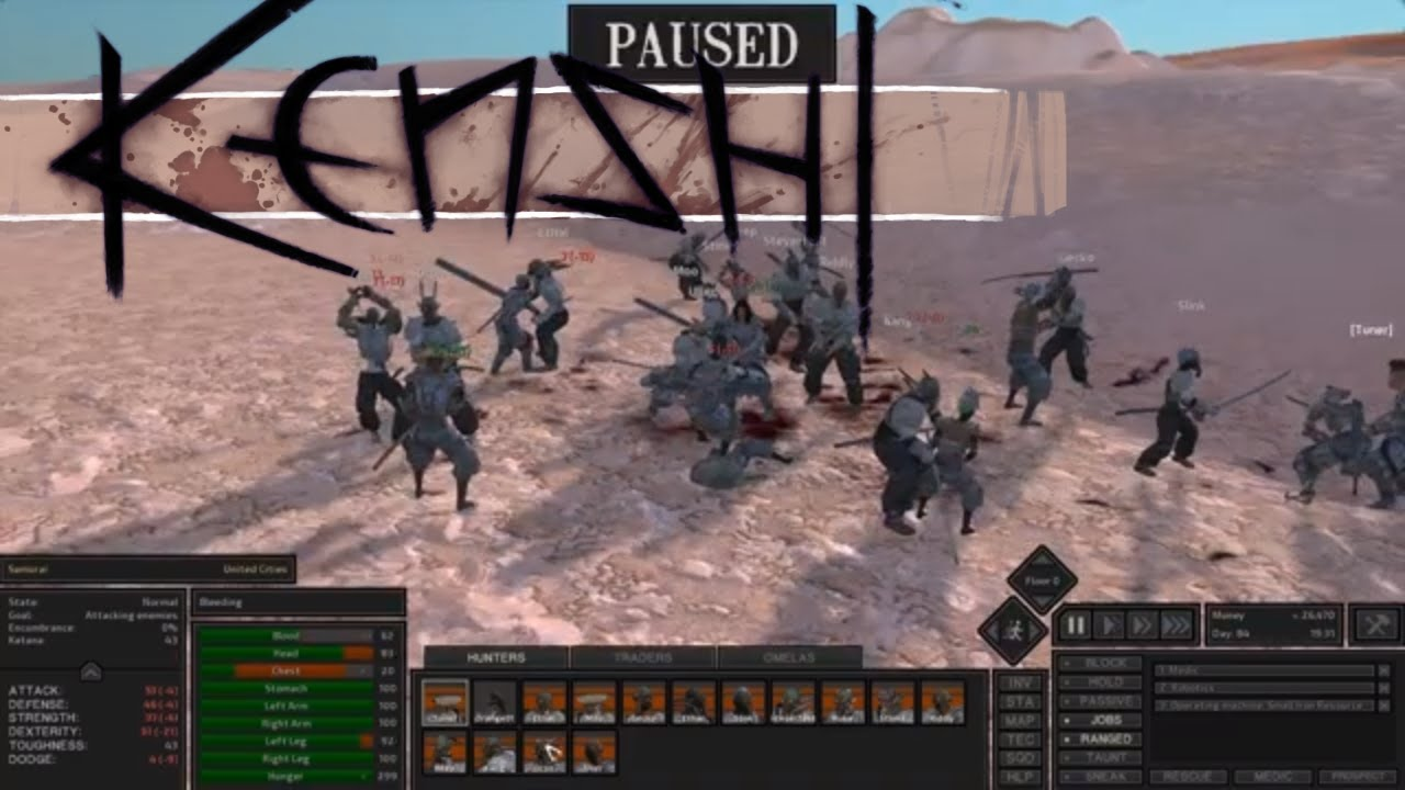 Kenshi Tutorials - Melee Weapon Types, Enemy Types and