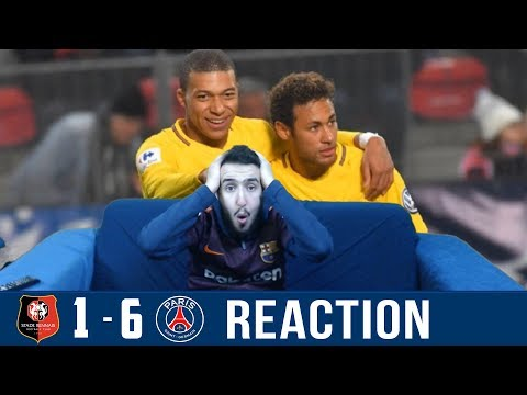 NEYMAR X MBAPPE X DI MARIA GOAL SHOW FOR PSG X RENNES 1-6 - REACTION