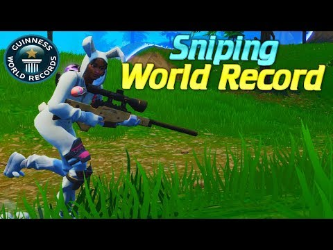 Fortnite RECORD! Most Snipes Hit In One Solo Game!