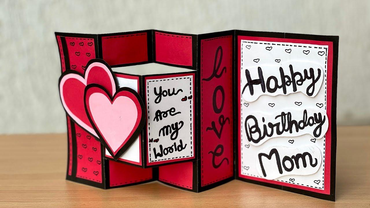 Diy Birthday Card Ideas Pop Up Birthday Card Birthday Greeting Card For Mom Diy Pop Up Card Youtube