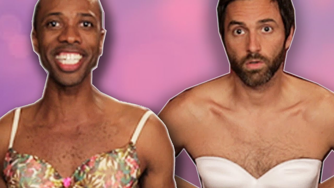 Guys Wear Bras For A Week - YouTube