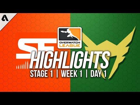 San Francisco Shock VS Los Angeles Valiant ft SoOn | Overwatch League Highlights Week1 Day 1