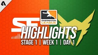 San Francisco Shock vs Los Angeles Valiant ft SoOn | Overwatch League Highlights OWL Week 1 Day 1