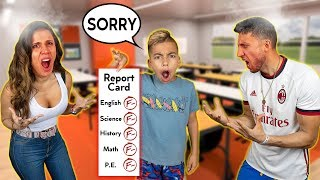 REACTING To Our Son's REPORT CARD! 😤 | The Royalty Family