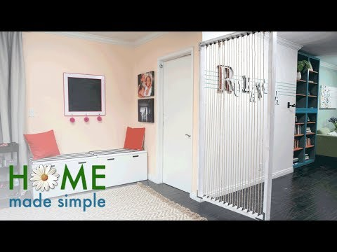 The Easy Way to Make a Modern Room Divider | Home Made Simple | Oprah Winfrey Network