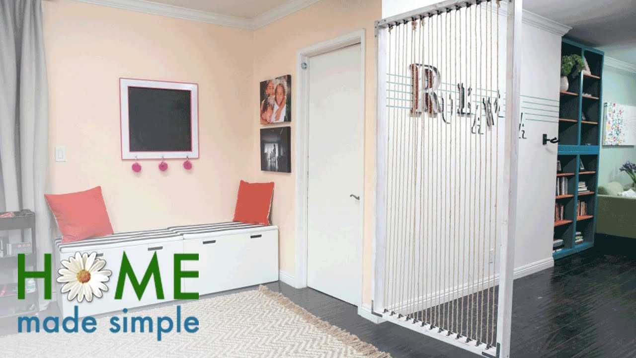 The Easy Way to Make a Modern Room Divider Home Made Simple