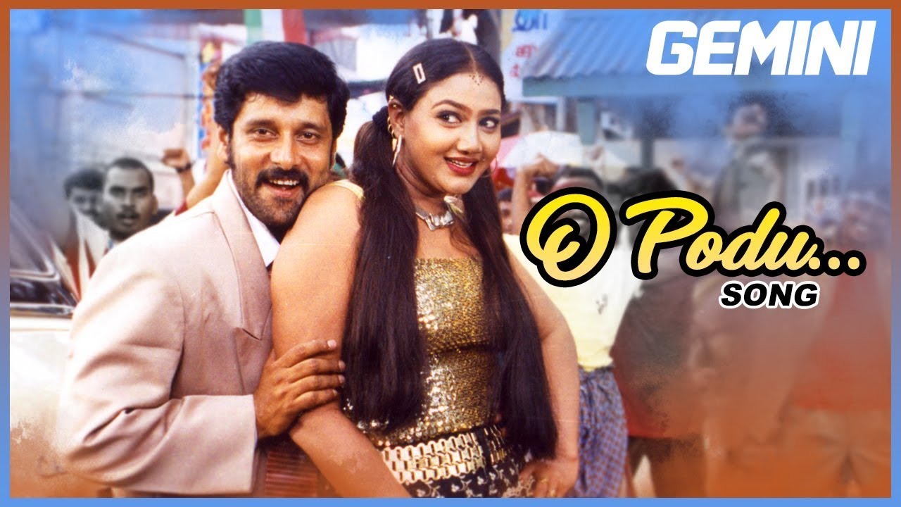 Tamil Hits O Podu Full Video Song Gemini Tamil Movie Songs Vikram Kiran Spb Barathwaj