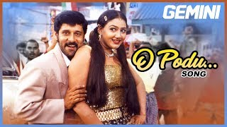 Tamil Hits | O Podu Full Video Song | Gemini Tamil Movie Songs | Vikram | Kiran | SPB | Barathwaj